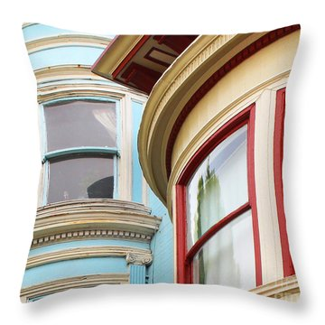 Victorian San Francisco Throw Pillow