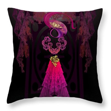 Victorian Silhouette Throw Pillow