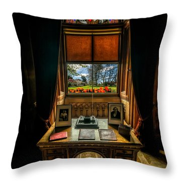Victorian Spring View Throw Pillow