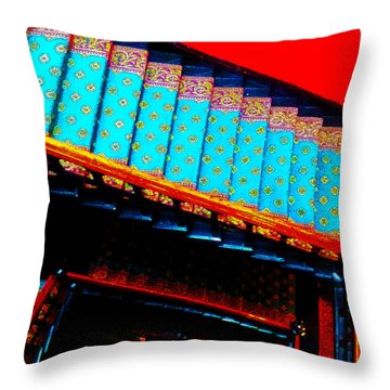 Victorian Stairs Throw Pillow