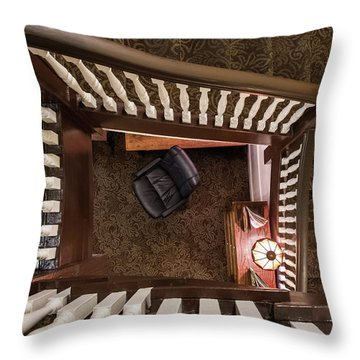 Victorian Stairway Throw Pillow