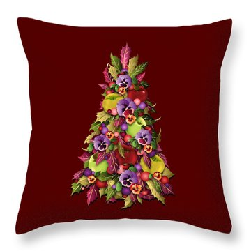 Throw Pillow featuring the digital art Victorian Style Holiday Tree by MM Anderson