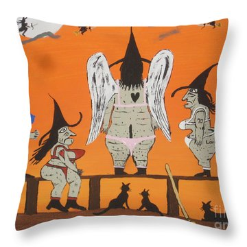 Victoria's Secret Witches Throw Pillow