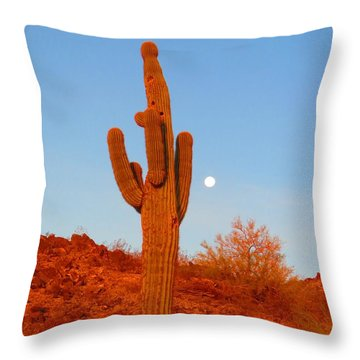 Victor's Harvest Moonset Throw Pillow