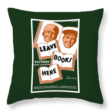 Victory Book Campaign - Wpa Throw Pillow