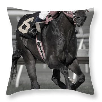 Victory Furlongs Throw Pillow