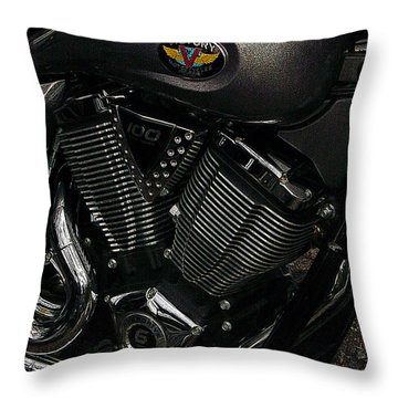 Victory Motorcycle Throw Pillow