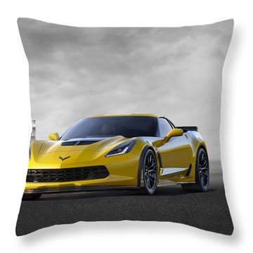 Throw Pillow featuring the digital art Victory Yellow  by Peter Chilelli
