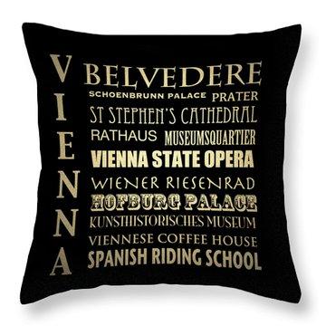 Vienna Austria Famous Landmarks Throw Pillow