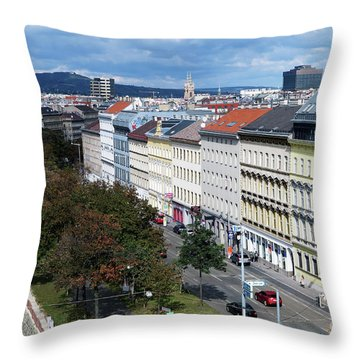 Vienna Beltway Throw Pillow by Christian Slanec