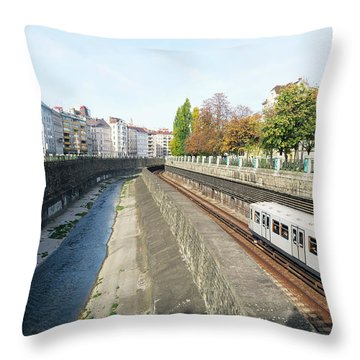 Vienna Canal Throw Pillow by Christian Slanec