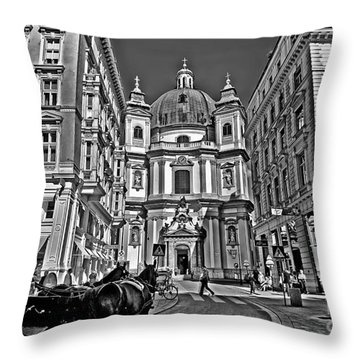 Vienna Scene Throw Pillow by Madeline Ellis