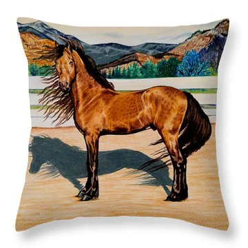 Viento Throw Pillow by Cheryl Poland