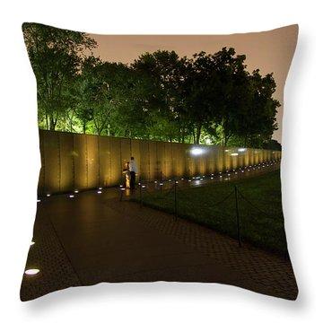 Vietnam Memorial By Night Throw Pillow