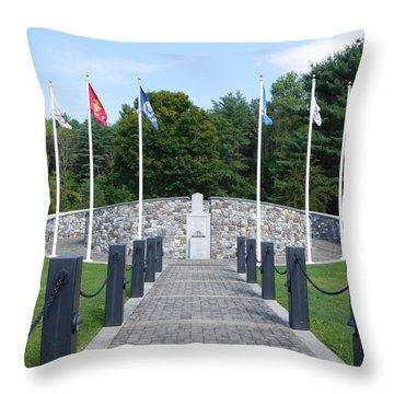 Vietnam Memorial In Vermont Throw Pillow