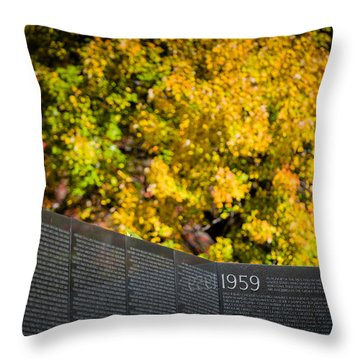 Vietnam Wall Autumn Throw Pillow