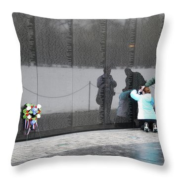 Vietnam Wall Family Throw Pillow