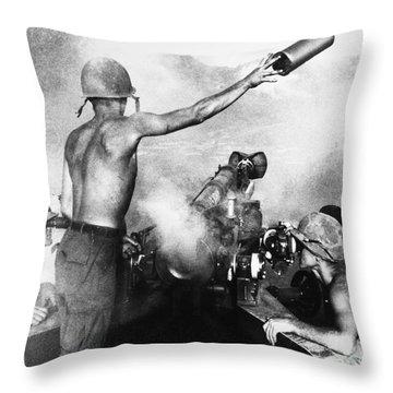 Vietnam War: Artillery Throw Pillow