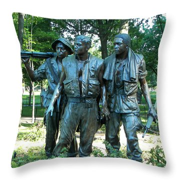 Vietnam War Memorial Statue Throw Pillow