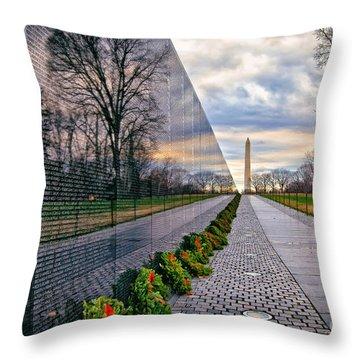 Vietnam War Memorial, Washington, Dc, Usa Throw Pillow