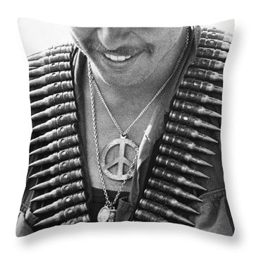 Vietnam War: Soldier, 1970 Throw Pillow by Granger