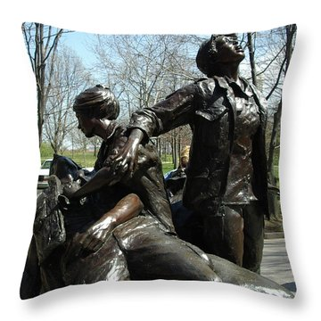 Vietnam Women's Memorial Throw Pillow