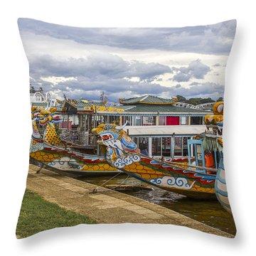 Vietnamese Dragon Boats Throw Pillow