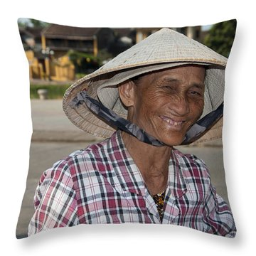 Vietnamese Street Vendor Throw Pillow