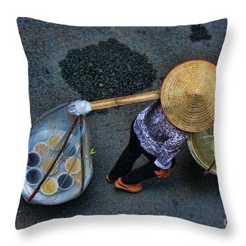 Vietnamese Woman Work Throw Pillow