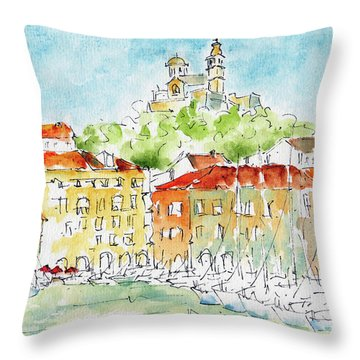 Vieux Port Marseille Throw Pillow