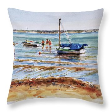 View Across Provincetown Harbor Throw Pillow by Peter Salwen