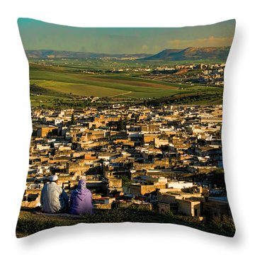 View Ancient Fes Morroco Throw Pillow