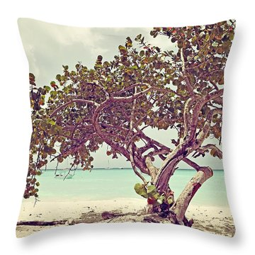 View At The Ocean With Boats In The Water Throw Pillow