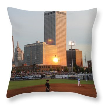 View From 3rd Base Throw Pillow