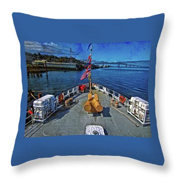 Throw Pillow featuring the photograph View From The Deck by Thom Zehrfeld
