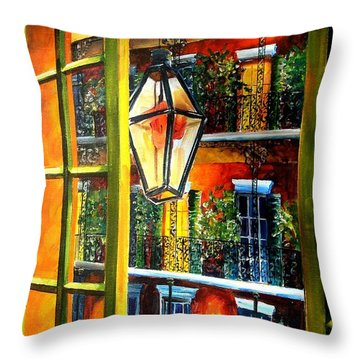 View From A French Quarter Balcony Throw Pillow by Diane Millsap