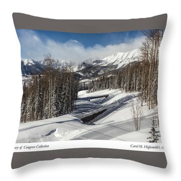 View From A Mountain Above Telluride In Colorado Throw Pillow by Carol M Highsmith
