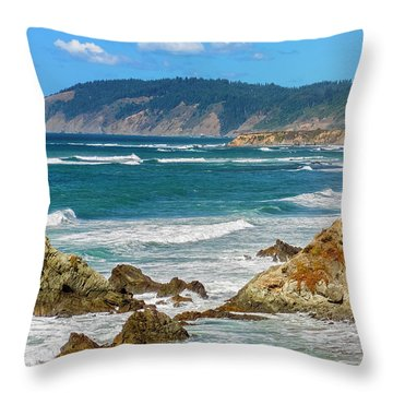 View From Abalone Point Throw Pillow