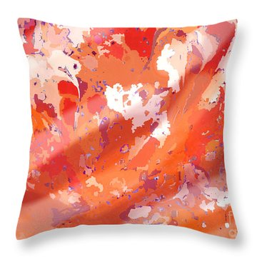 View From Above In Orange Throw Pillow