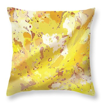 View From Above In Yellow Throw Pillow