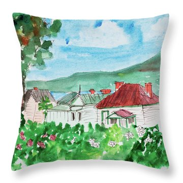 View From Battery Point Throw Pillow