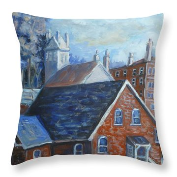 View From Belleville Library Throw Pillow