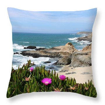 View From Bodega Head In Bodega Bay Ca - 3 Throw Pillow