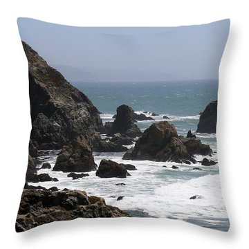 View From Bodega Head In Bodega Bay Ca - 4 Throw Pillow