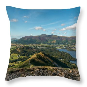 View From Catbells Throw Pillow