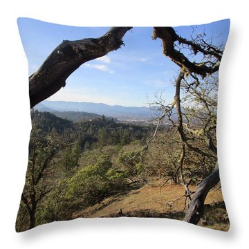 View From Cathedral Hills Throw Pillow