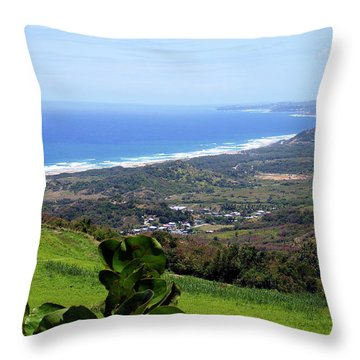 Throw Pillow featuring the photograph View From Cherry Hill, Barbados by Kurt Van Wagner