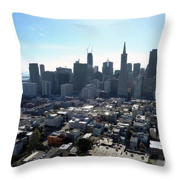 Throw Pillow featuring the photograph View From Coit Tower by Steven Spak