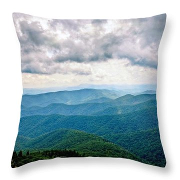 View From Devil's Courthouse Throw Pillow
