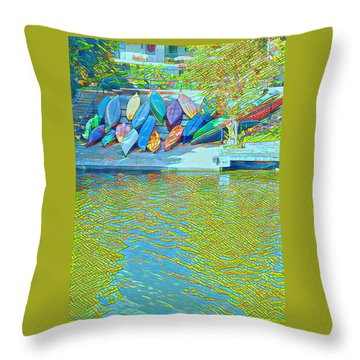 View From East Side Boardwalk Throw Pillow